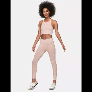 Outdoor Voices Pink Heathered Leggings
